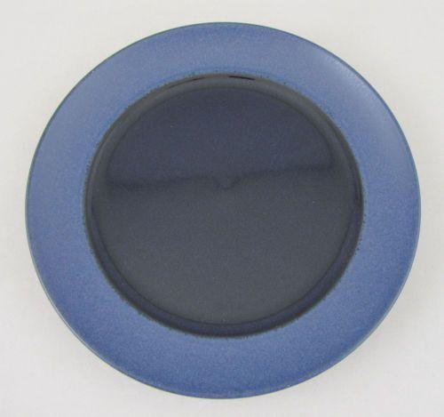 Dansk Salad Plate Tera Blue Studio Levien Collection Matte Blue Rim Gloss Center | eBay