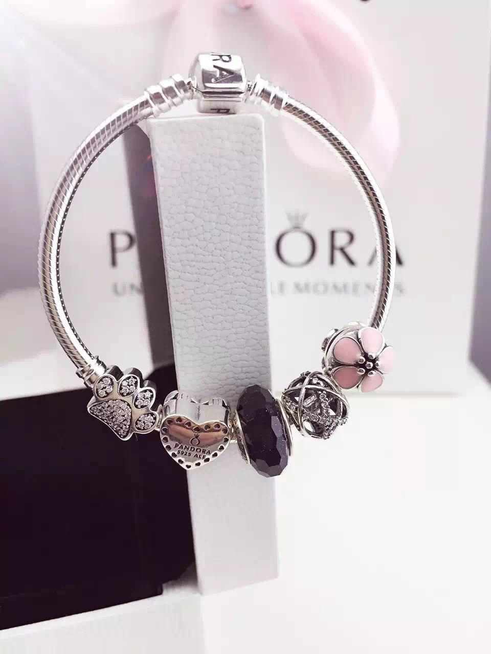 fbd423a3d $159 Pandora Charm Bracelet Black Pink. Hot Sale!!! SKU: CB01726 - PANDORA  Bracelet Ideas