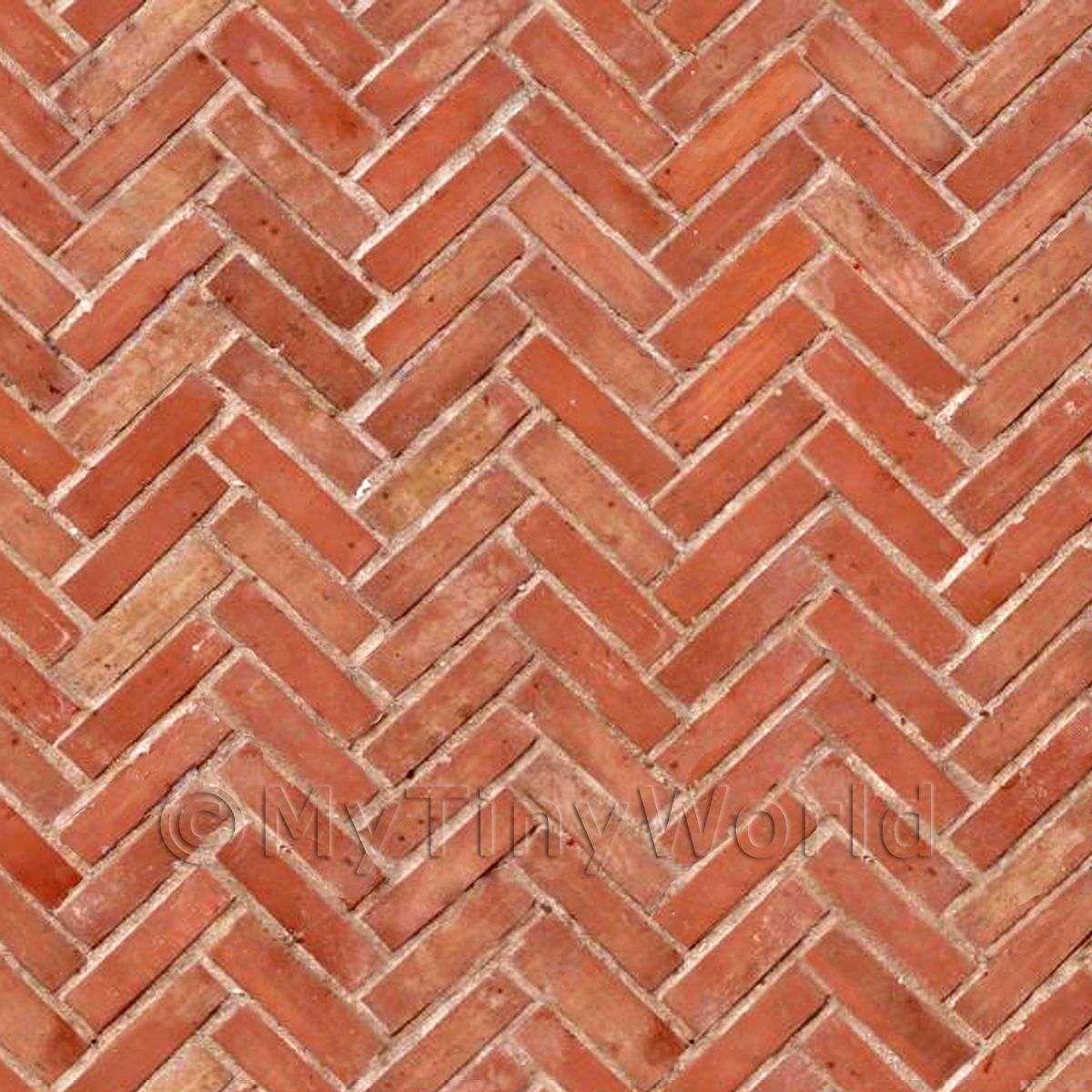 MyTinyWorld Dolls House Miniature Old Herringbone Brick Pattern Cladding. red paving bricks uk   Google Search   garden   Pinterest   Bricks