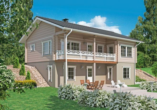l muotoinen rinnetalo talojen julkisivuja house house in the rh pinterest com