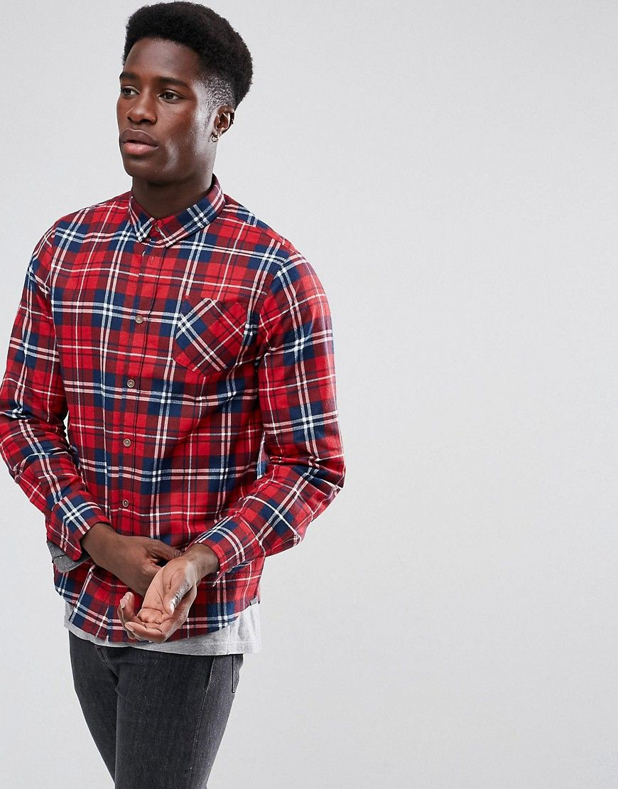 Red flannel shirts  Brave Soul Check Flannel Shirt  Red  Products  Pinterest  Products