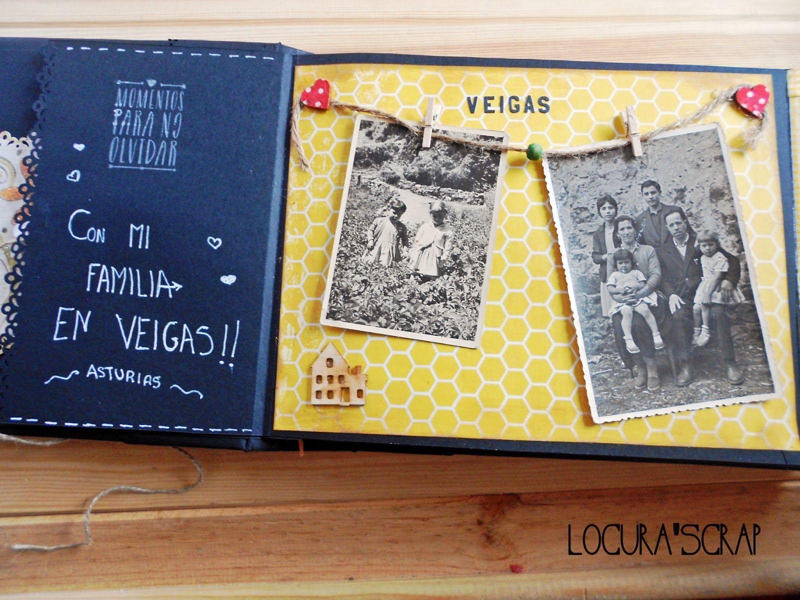 Locura 39 scrap blog dedicado al scrapbooking y manualidades lbum scrapbooking lomo album - Manualidades album de fotos casero ...