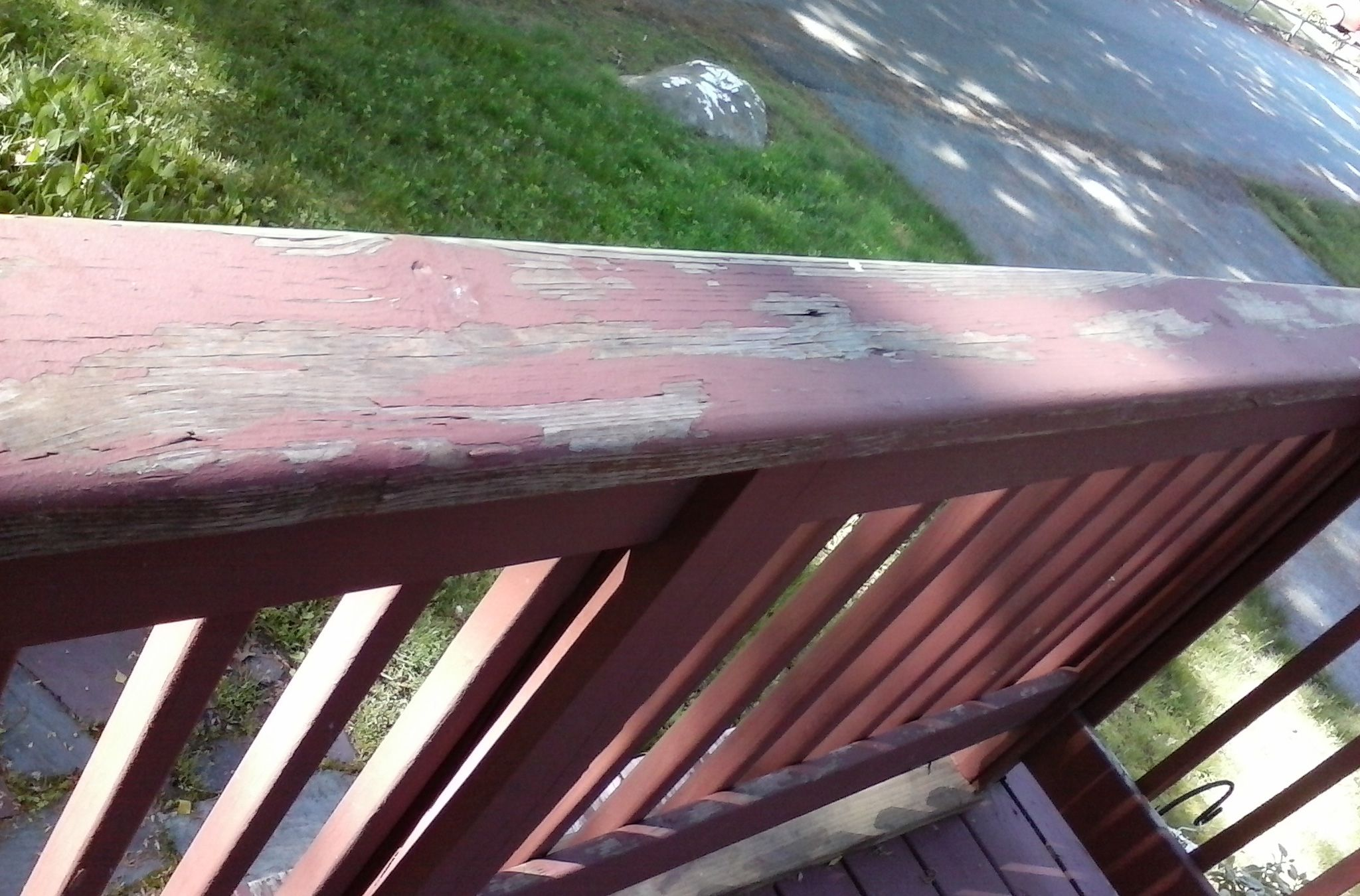 a Removing deck latex paint off