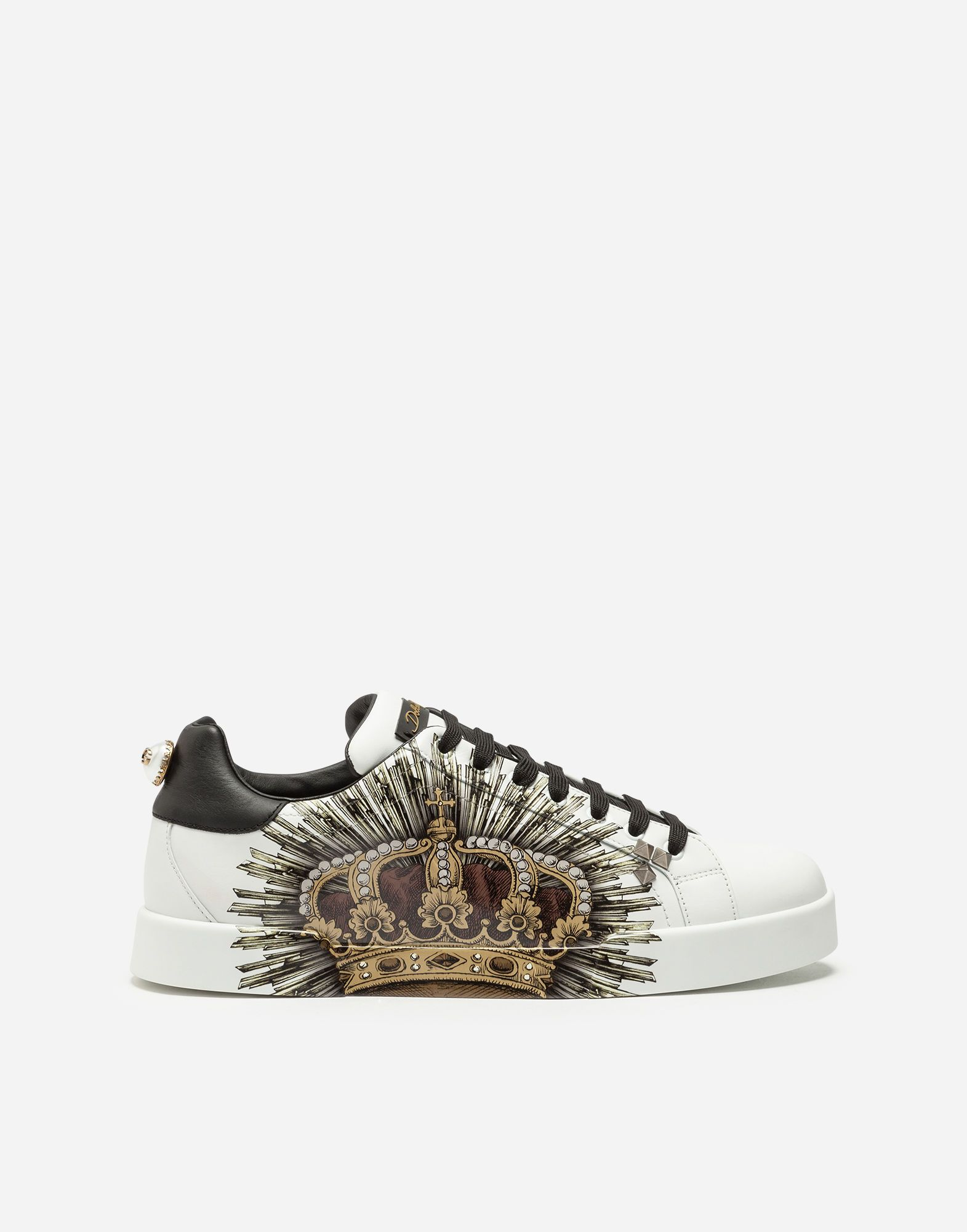 729d81444e677 DOLCE   GABBANA PORTOFINO SNEAKERS IN PRINTED CALFSKIN.  dolcegabbana  shoes