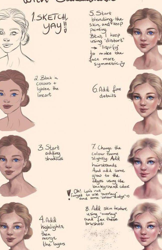 Tutorial  Painting a female face by SandraWinther on DeviantArt   #DeviantArt #DigitalArt #FACE #Female #Painting #SandraWinther #Tutorial