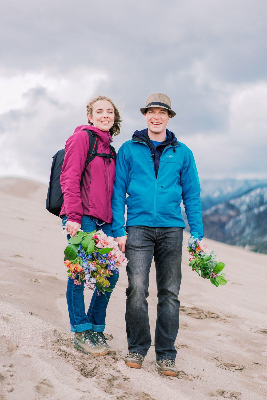 Jairus + Isabelle Sand dunes national park, Elopement