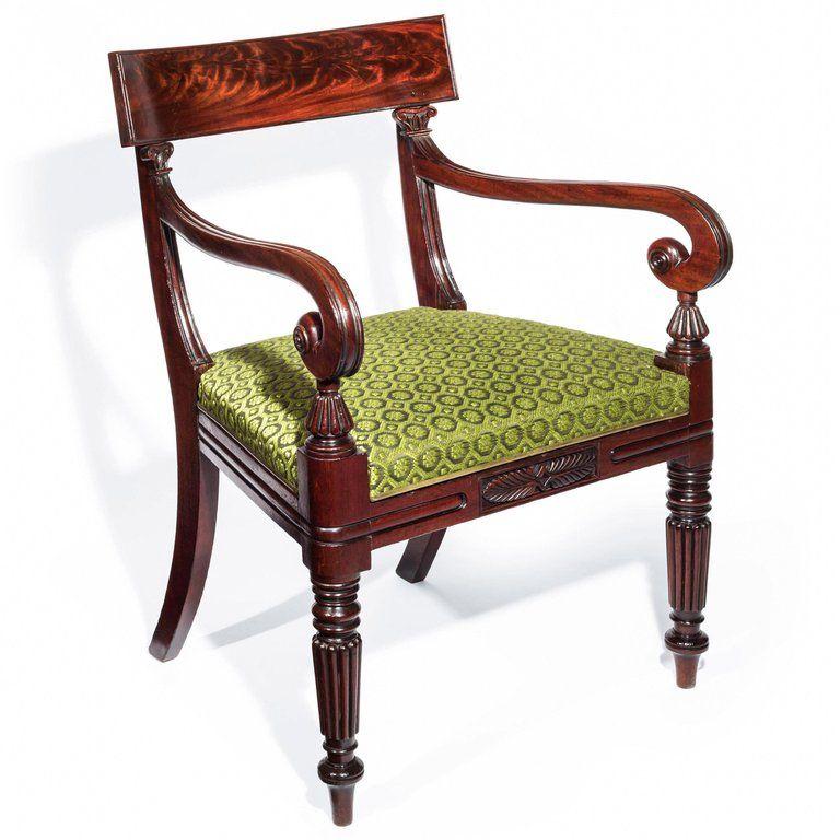 large regency armchair anonim regency regency era 19th century rh pinterest com
