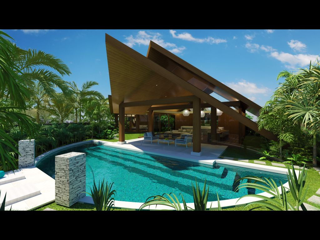 Chris clout design sunshine beach house resort living for Tropical hotel decor