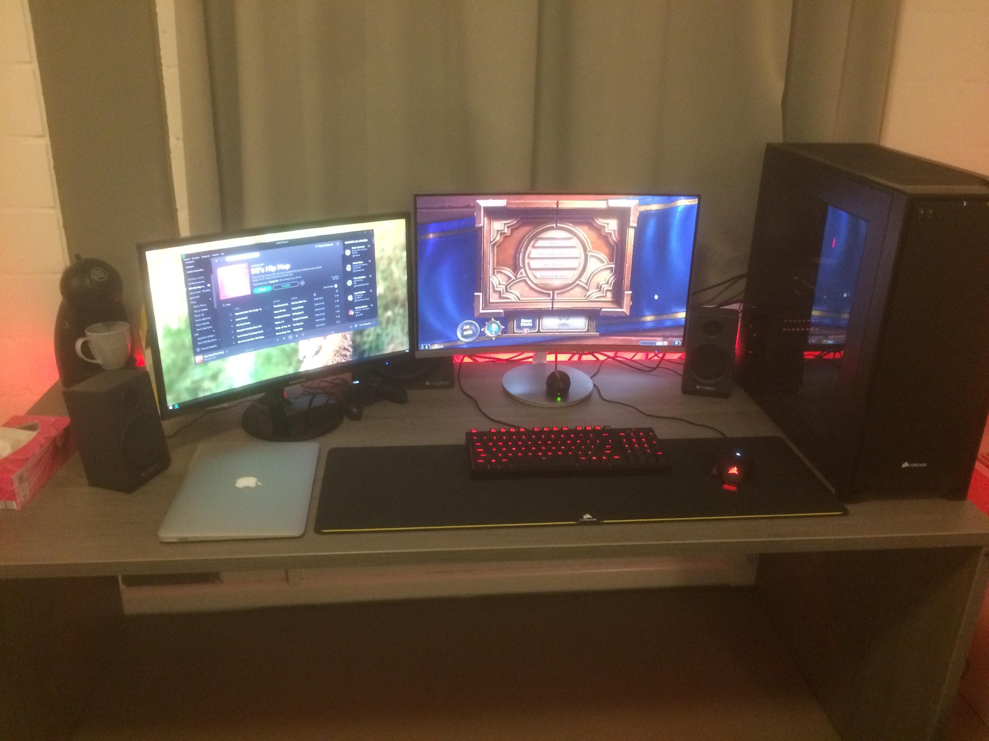 double curved screen college setup bestgamesetups com monitor rh pinterest co uk