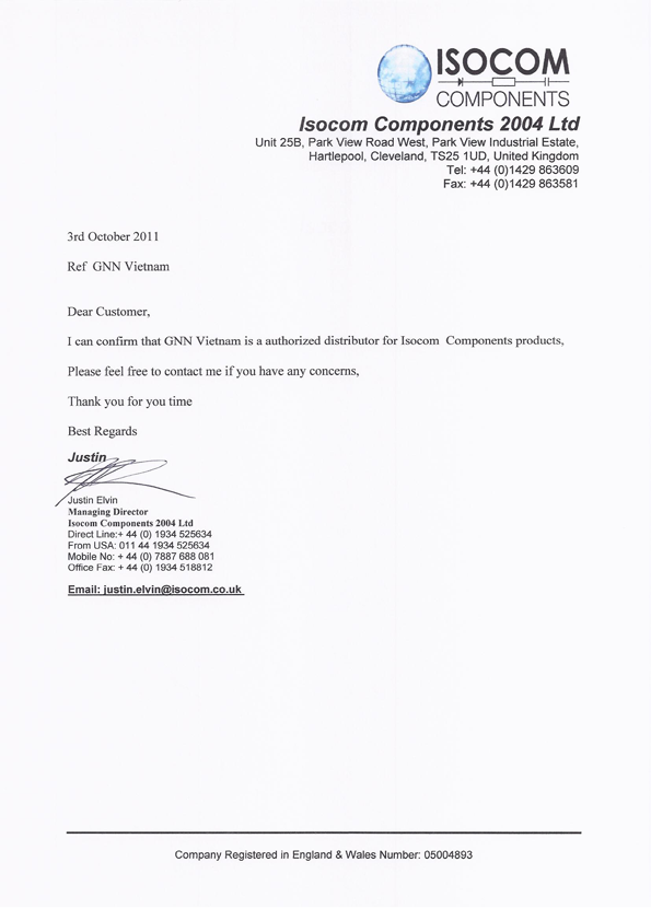 Authorization letter format for distributor featured suppliers authorization letter format for distributor featured suppliers glenair altavistaventures Image collections