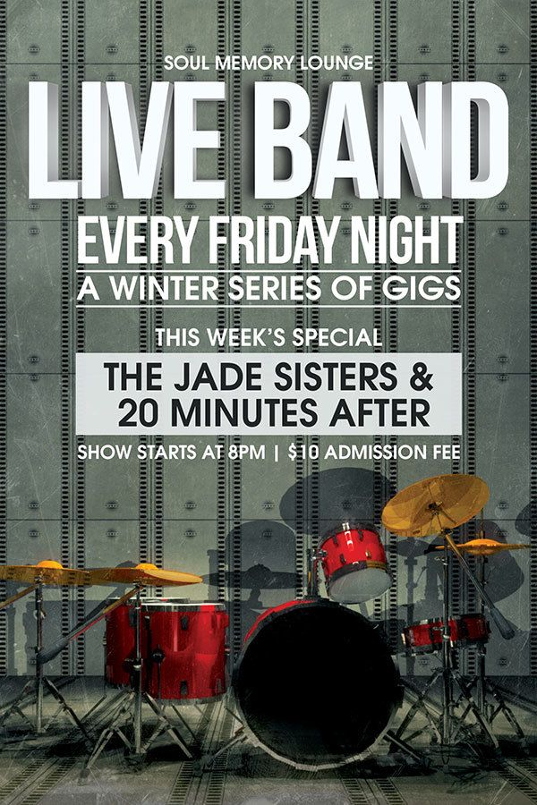 Live Band Gigs Flyer | Live Band And Dancing