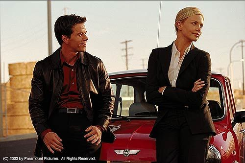 The Italian Job--Mark Wahlberg and Charlize Theron