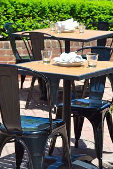 Bon Atlantic Table Tops At Soul In Annapolis, Maryland | Restaurant Furniture