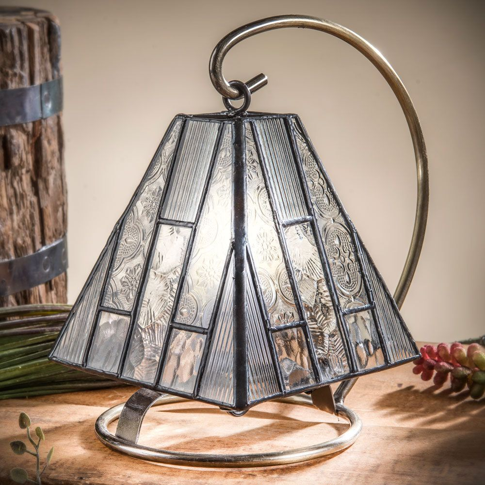 J Devlin Lam 671 Clear Textures Mini Lamp