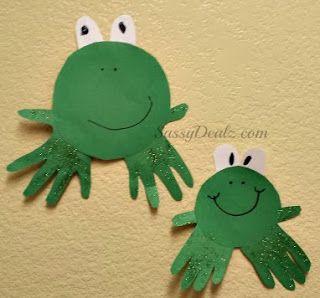 Diy cheap handprint frog craft for kids - Sassydeals com ...