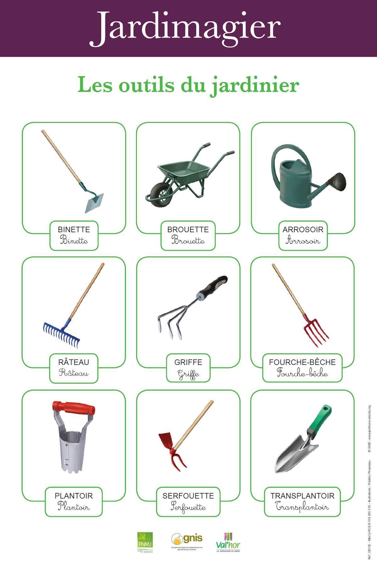 Jardinons l 39 cole faire un jardin scolaire pratiquer for Les outils de jardinage