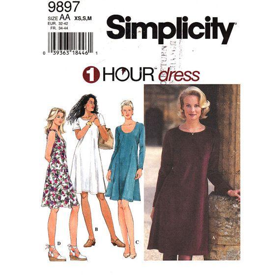 Womens Pullover Flared Dress Pattern by finickypatternshop on Etsy, $7.25
