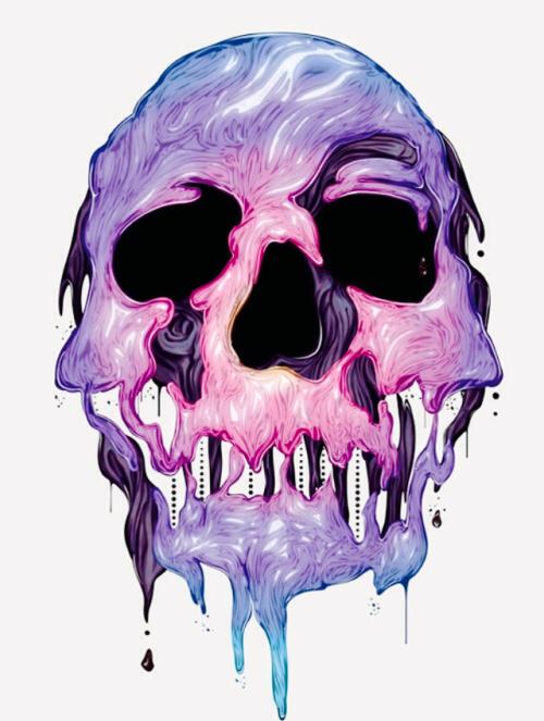 Melted Skull Tumblr Arte Com Caveira Sociedade Secreta Arte Com Caveiras