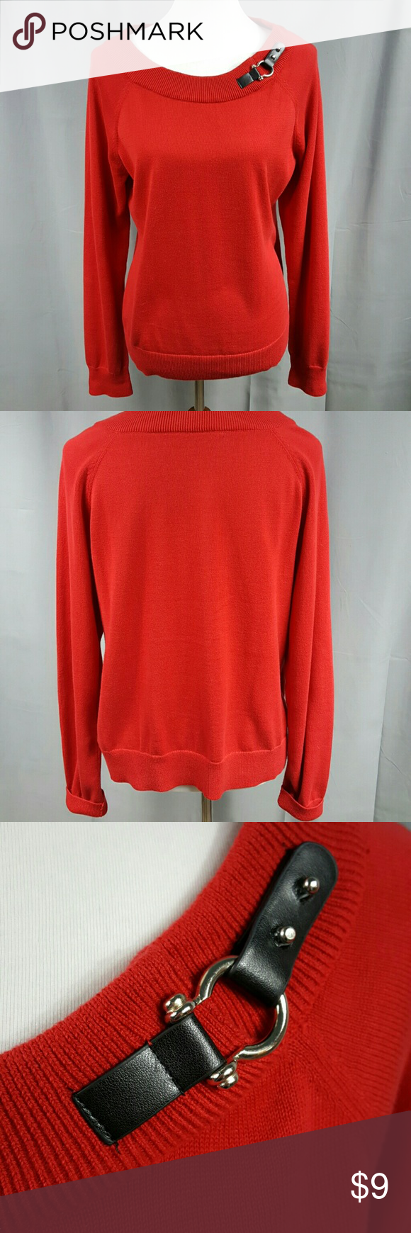 Red sweater with buckle detailing You don't have to wear an ugly ...