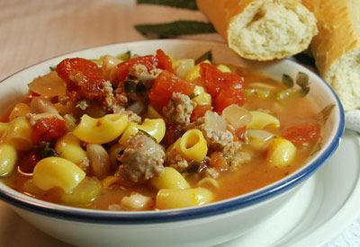 tops friendly markets recipe spicy italian sausage and bean soup rh pinterest fr