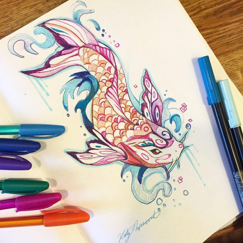 a7ac6b1ac3300 292- Butterfly Koi by Lucky978.deviantart.com on @DeviantArt, wow this  artist is amazing