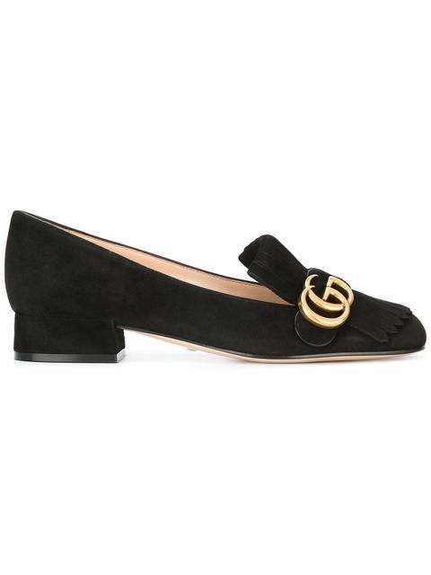 24da33993c84 GUCCI GG vamp fringe loafers. #gucci #shoes #flats | Gucci | Gucci ...