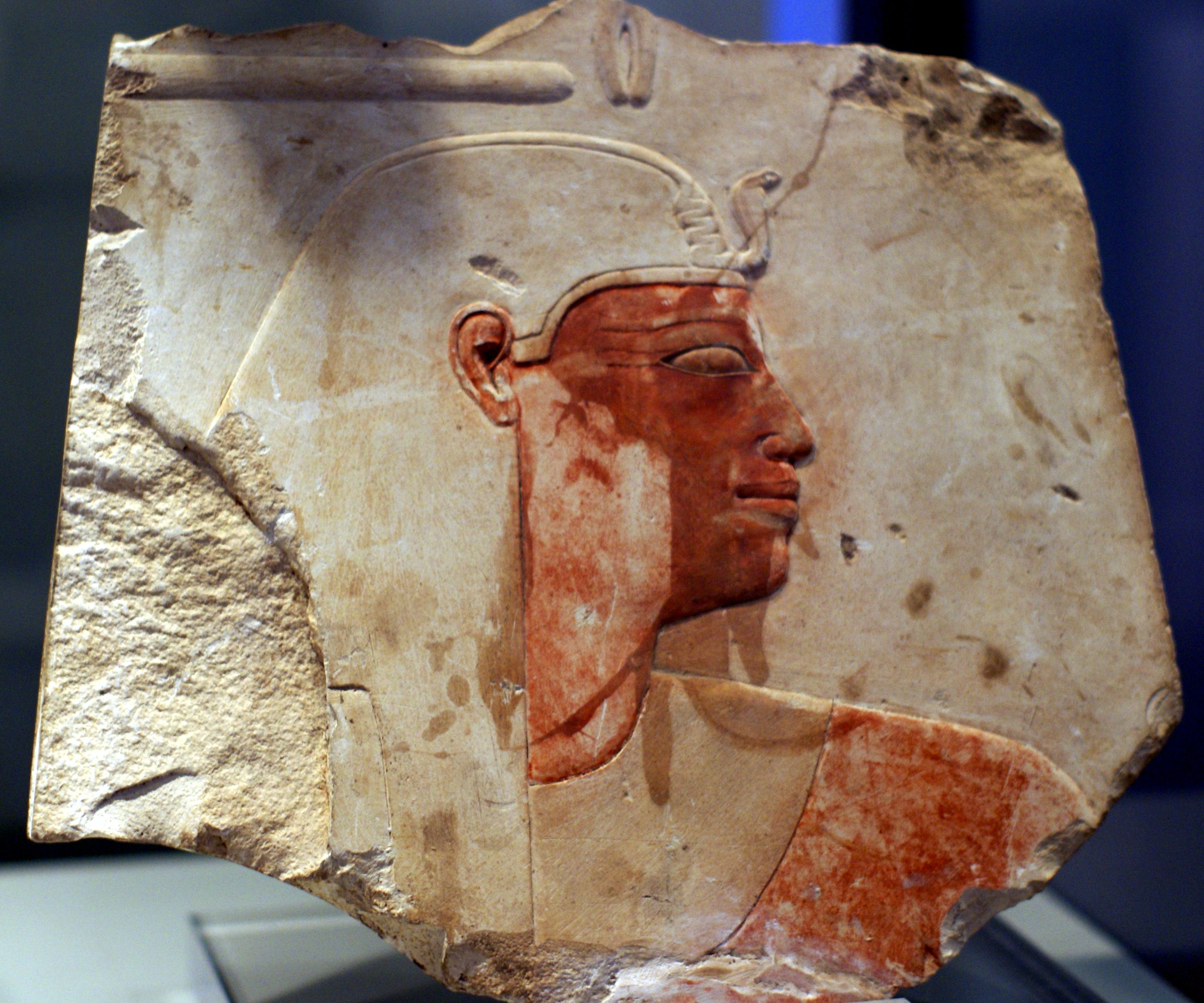 Relief of Amenhotep I, 1525 - 1504 BC, Karnak. Now at Museum Barracco