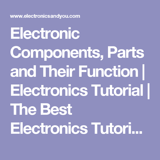 Electronic Components, Parts and Their Function | Electronics