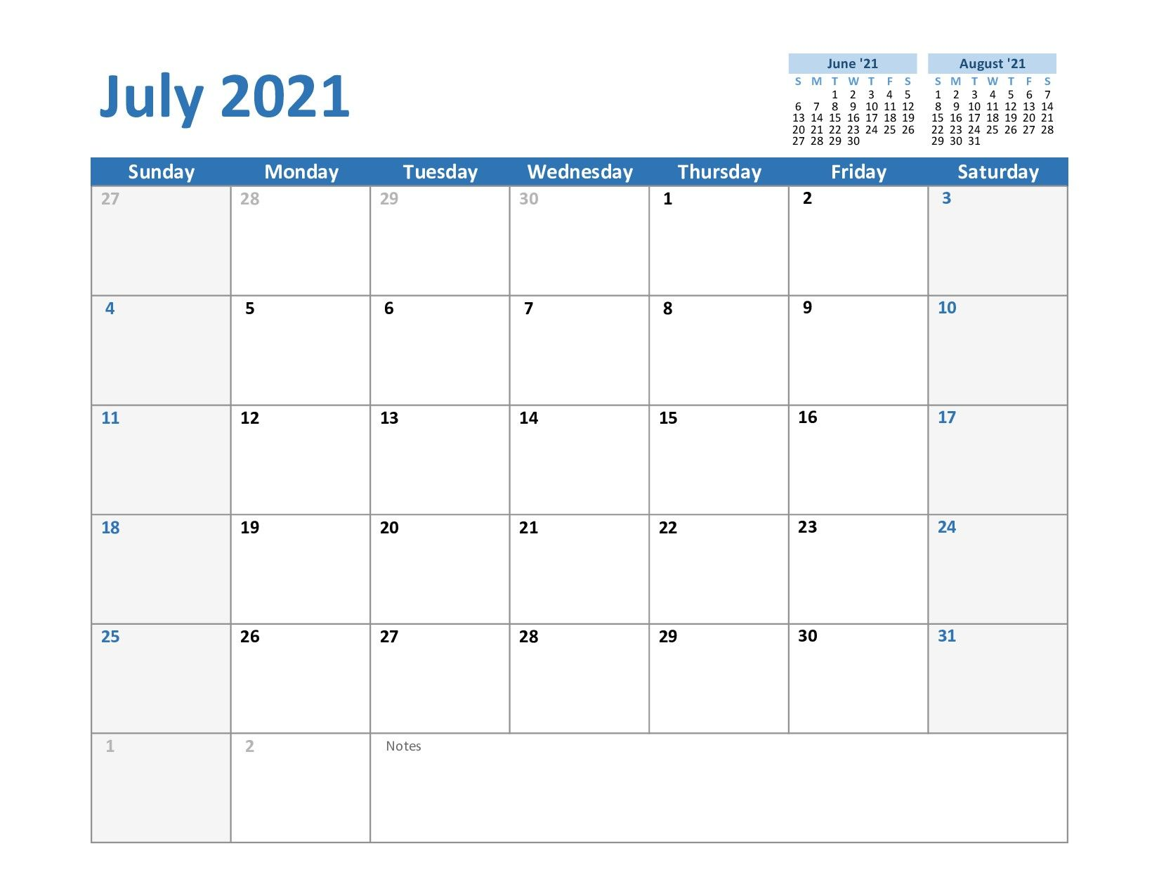 2021 Calendar Fillable July Di 2020