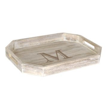Whitewash Monogram Serving Tray