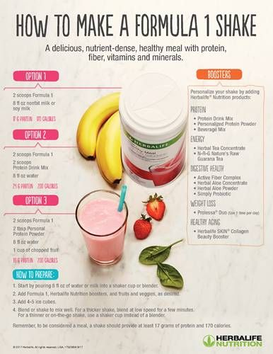 Customer Support Tools How to Make a Formula 1 Shake is part of Herbalife diet -