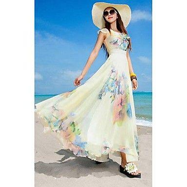 Vestido Praia Saia de férias Turismo Vestido das mulheres