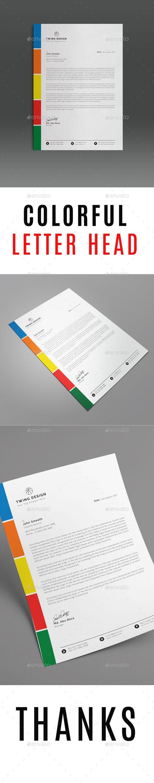 letter format on letterhead%0A Colorful Letter Head