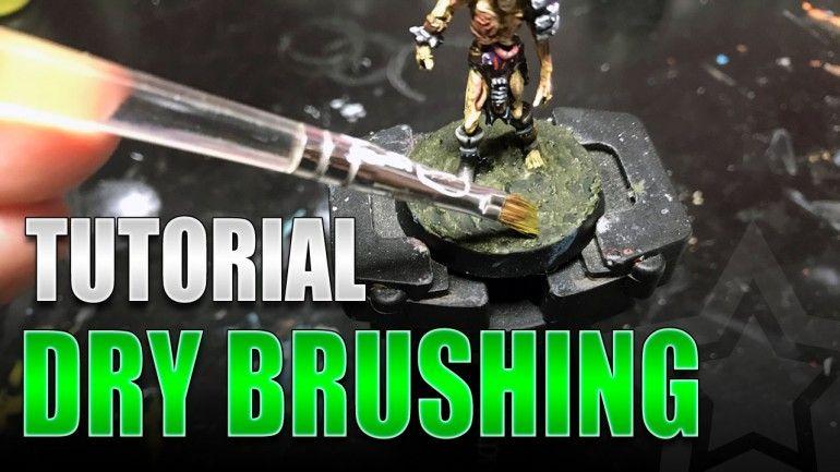 how to dry brush warhammer