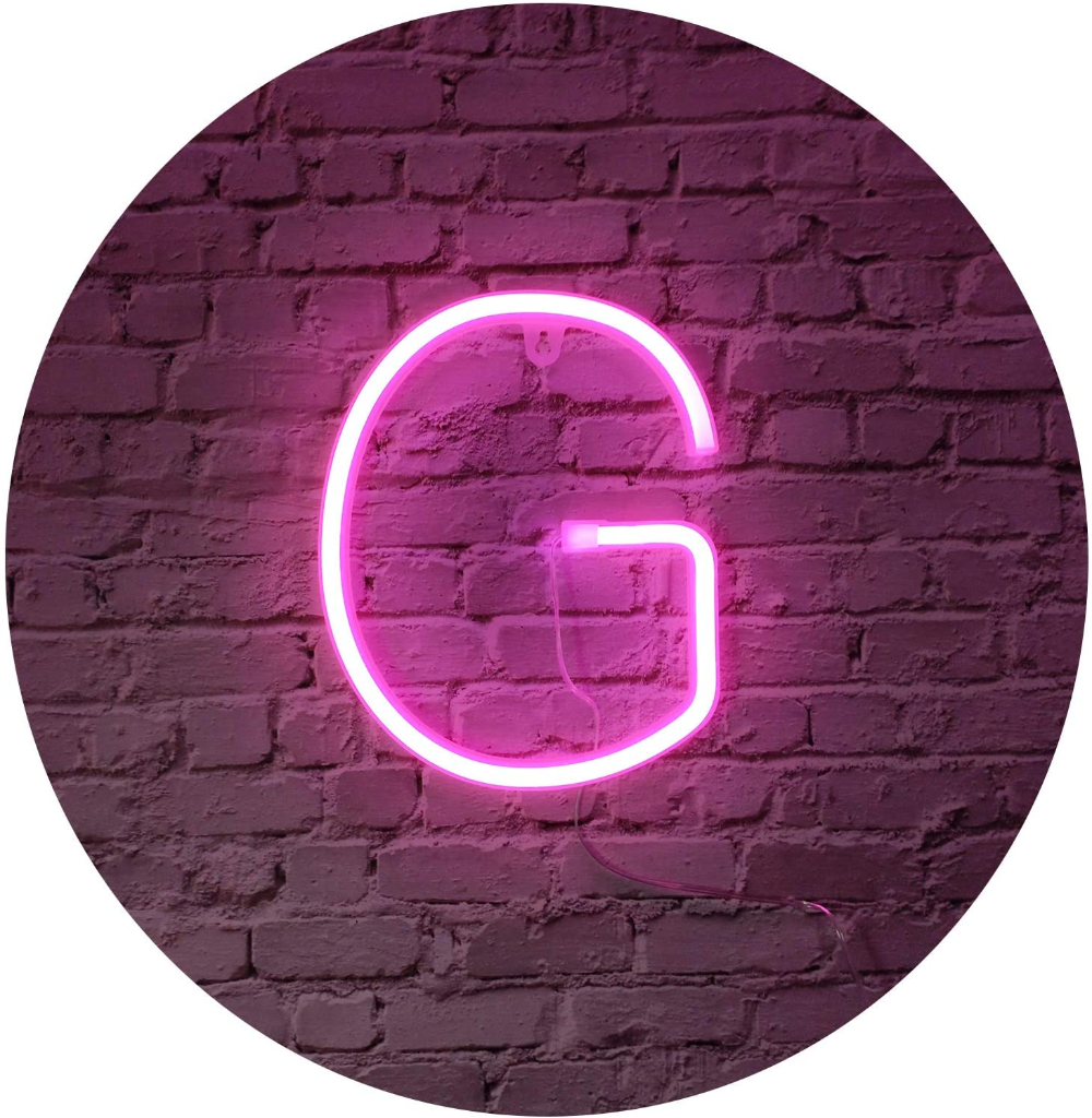 Pink LED Neon Letters Light Up Alphabet Neon Sign