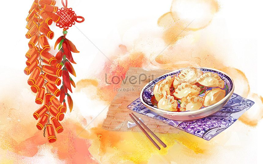 Delicious Dumpling Dumplings Chinese New Year Spring Festival Traditional Food Chinese Food Festi Chinese New Year Design Chinese New Year Template Design
