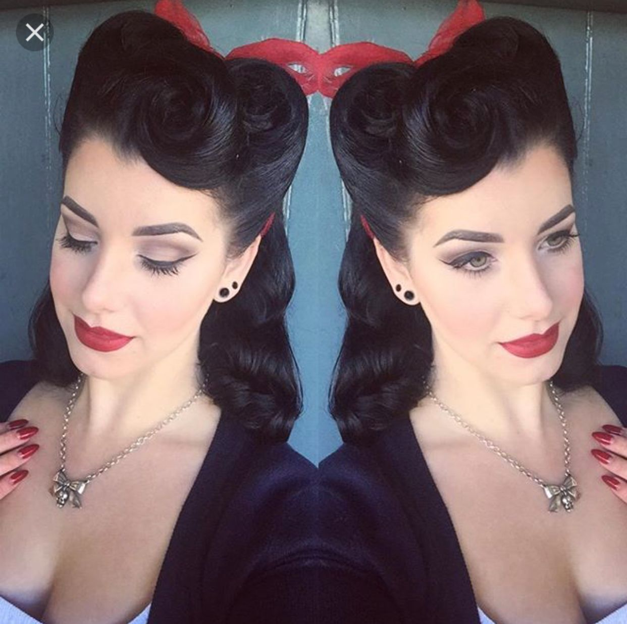 Victory Rolls Long Hair Retro Hairstyles Vintage Hairstyles Hair Styles