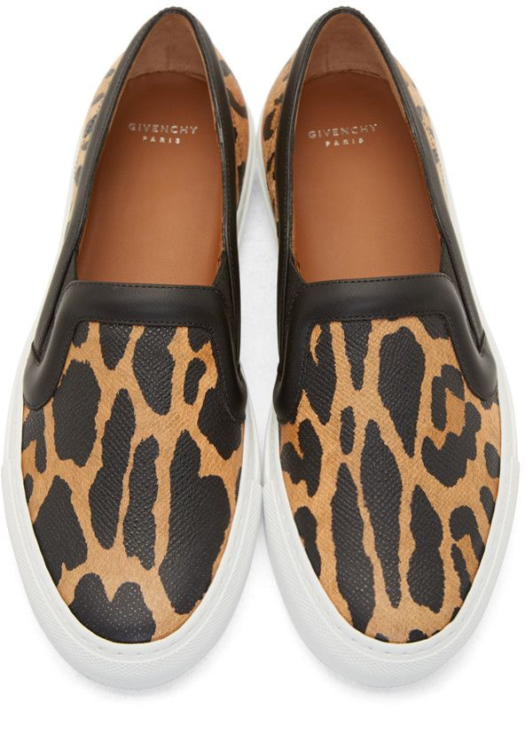 Givenchy Leopard Print Slip-On Sneakers