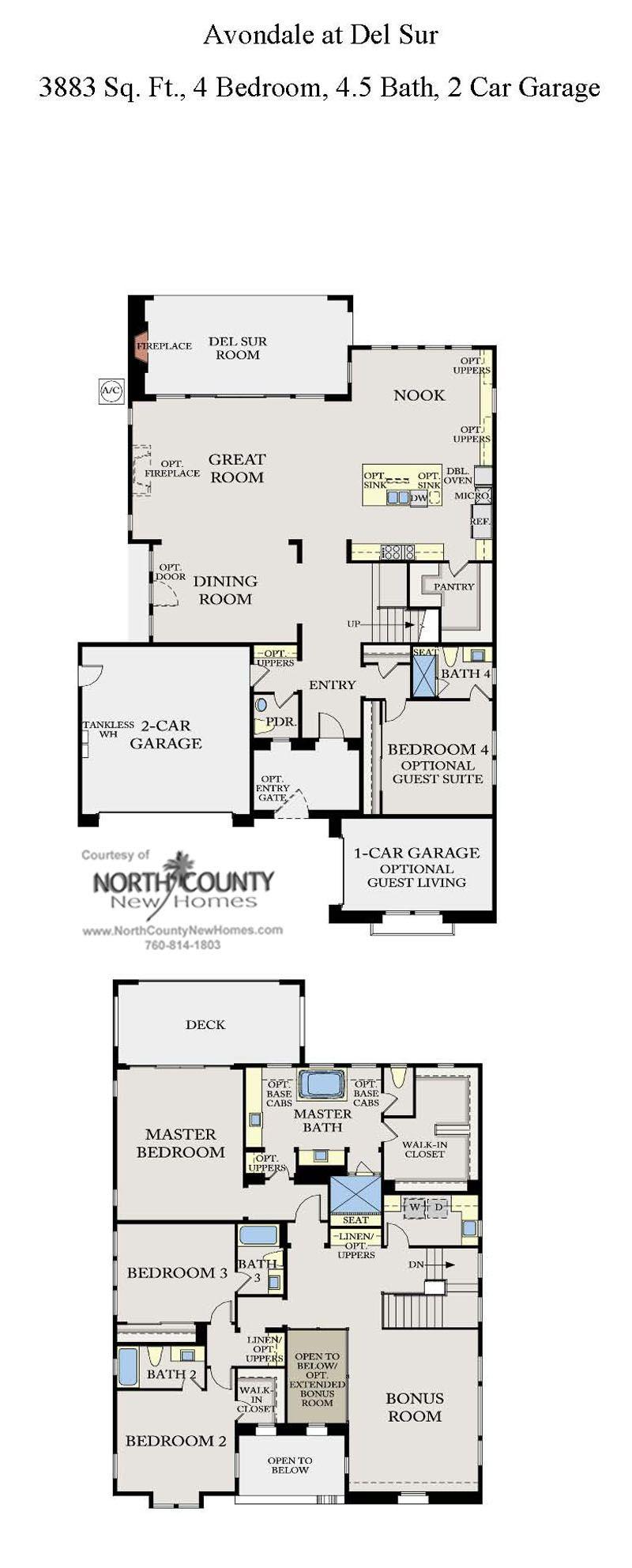 Avondale At Del Sur Floor Plans New Homes In Del Sur Floor Plans How To Plan New Homes