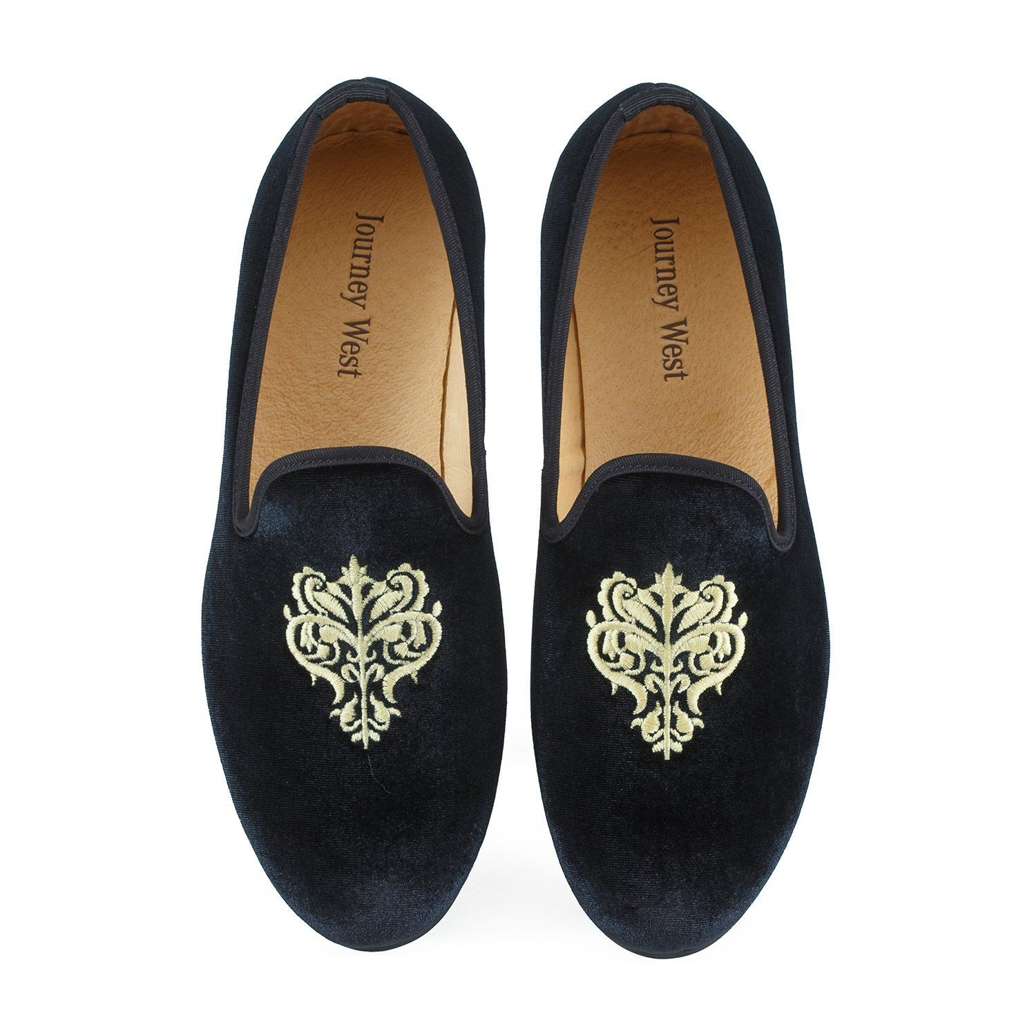 Vintage Handmade Leather Ethnic Embroidery Slippers Shoes Classic