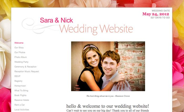 Wedding Planning 101 Build An Awesome Wedding Website Pinterest