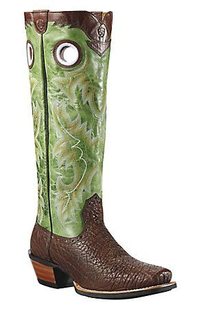 Ariat Brushrider Mens Brown Bull w/17