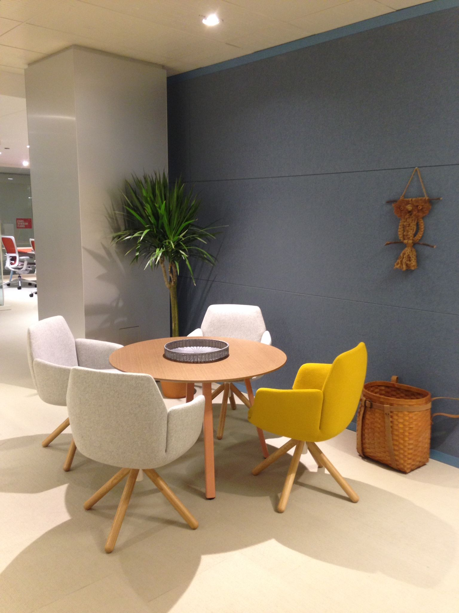 Poppy chairs in a fun arrangement Designed