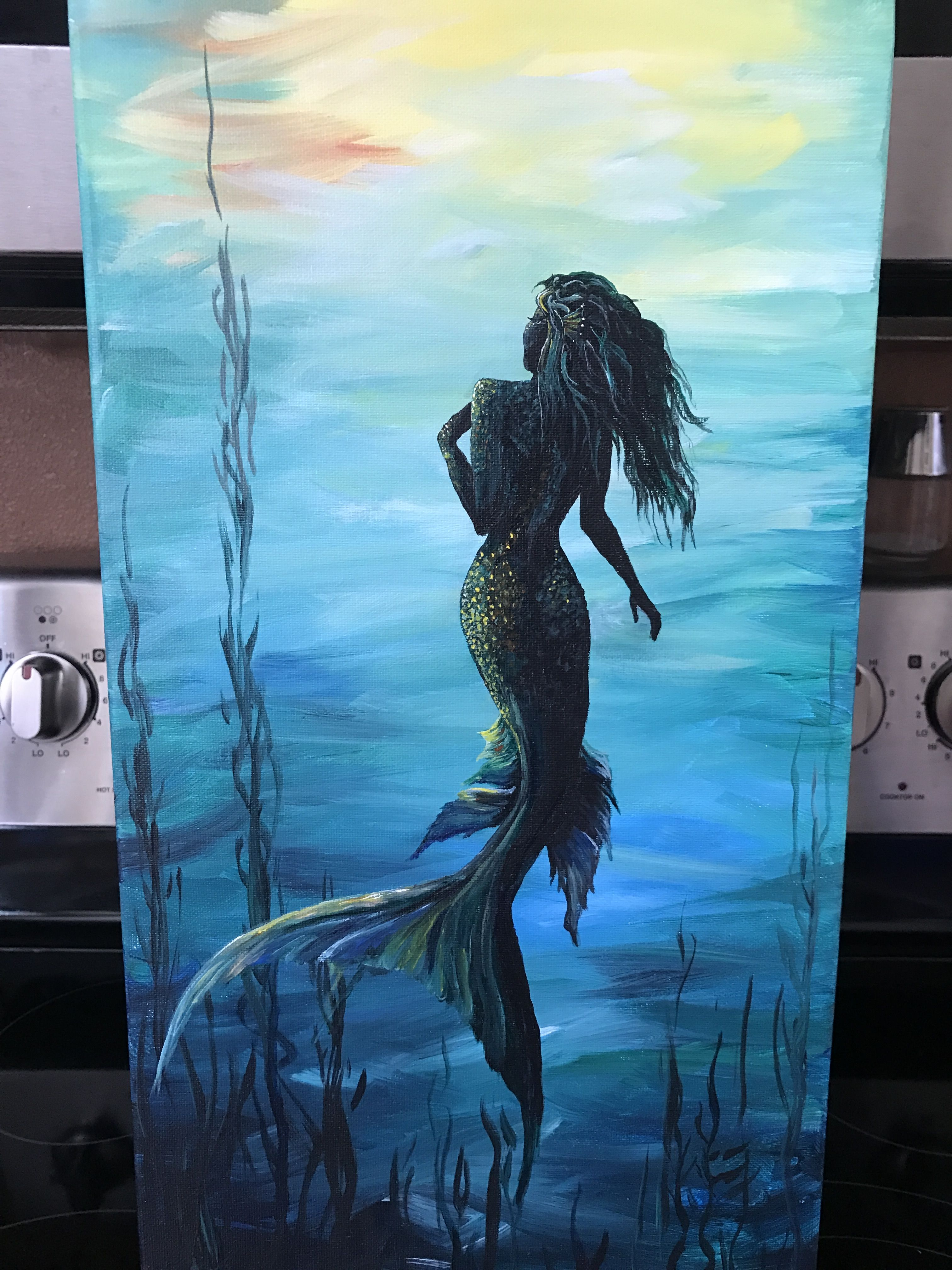 Painted At Coffee And Canvas Mermaid Painting Art Painting Acrylic Art Painting