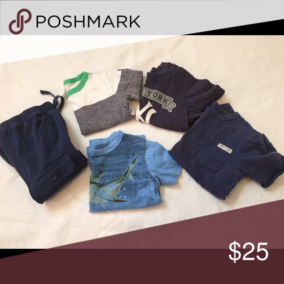 120195712 Boys size 2T bundle Boys size 2T bundle, one pair of sweatpants and 4 short  sleeve shirts, brands include GAP, Old Navy, Crewcuts and a NY Yankees shirt  ...