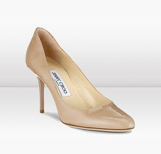 fb58d91385d9 Jimmy Choo Gilbert Nude Patent Leather Round Toe Pumps - ShopStyle ...