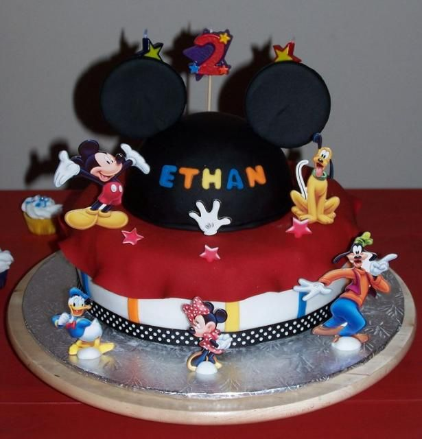 mickey Themed Birthday Cakes Picture of Mickey Mouse other