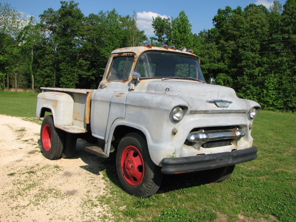 Chevy 2 Ton Truck | STRANGE 1955 2 TON LCF CHEVY TRUCK (MATER ...
