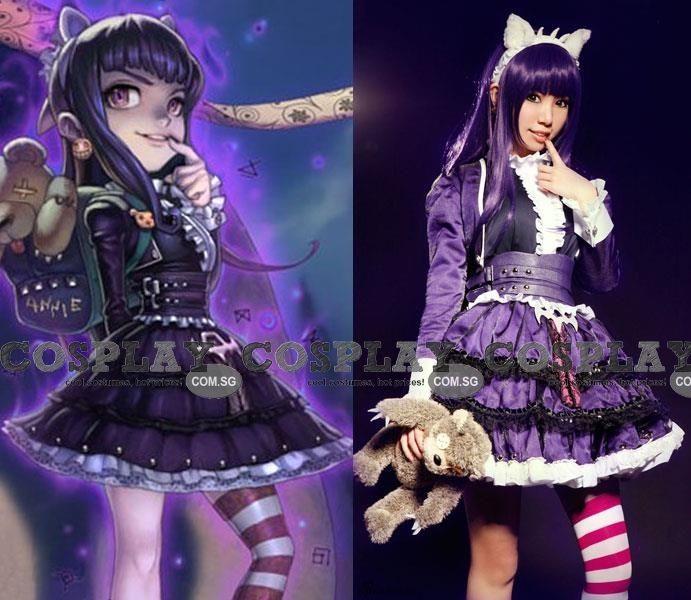 Anime Annie Long Sleeve Dress League of Legends LOL Halloween Cosplay Custume