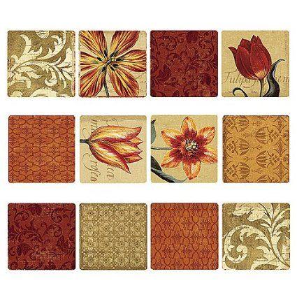 Amazon.com - Wallies Peel and Stick 2 Sheet Vinyl Decals, Tulip Medley - Wall Decor Stickers